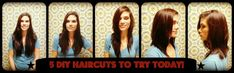 5 DIY Haircuts To Try: Ever thought about cutting your own hair? Behold, the Ponytail Cut. The beauty of the ponytail cut is that it brings all the hair to one place for you to cut, keeping it neat and straight forward. And, depending on where the ponytail is on the head, you can created many different shapes and effects with the cut.