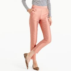 Pink cigarette pants from J. Crew