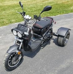 50cc Trike Mean Dogg II Scooter Gas Moped 50cc Moped Scooter, Gas Moped, Gas Scooter, Manual Transmission, Automatic Transmission, Mopeds, Cars Motorcycles, Vehicles, Board