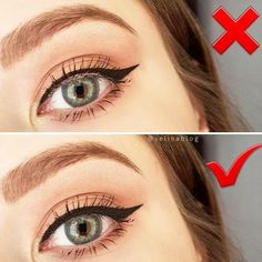 Do you know how to apply eyeliner quickly and make it look as if a professional artist worked on it? Despite the fact that it is not a secret that eyeliner is definitely the hardest makeup part to pull off, our tips and tricks will certainly change your makeup game or will help you to save some time in the morning while getting ready. #makeup #makeuplover #howtoapplyeyeliner #eyeliner #EyelinerTutorial Eyeliner Hacks, Perfect Eyeliner, Eyeliner Styles, How To Apply Eyeliner, Eyeliner Brands, Permanent Eyeliner, Eyeliner Ideas, Simple Eyeliner, Black Eyeliner