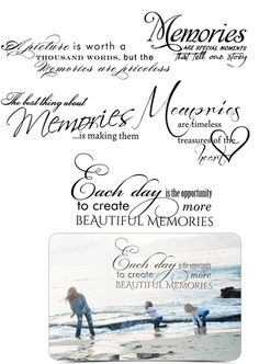 Word Art - Inspired Word Stamps for Your Photos - Scrapbooking Quotes - Digi Stamps - AsheDesign.com