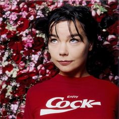 Björk in Enjoy Cock Coca~Cola T-Shirt by Dave Stewart