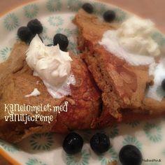 Kanelomelet med vaniljecreme LCHF