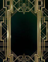 Great Gatsby Art Deco Background