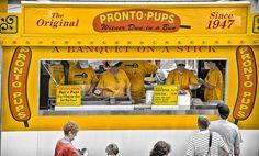 No, it's not a corn dog silly , it's a PRONTO PUP!!  @State Fair