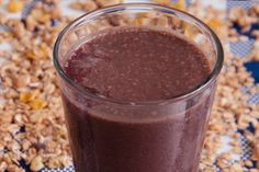 Vitamina de Açaí com Chocolate