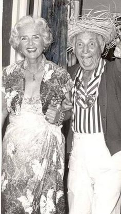 Harpo Marx and his wife, Susan