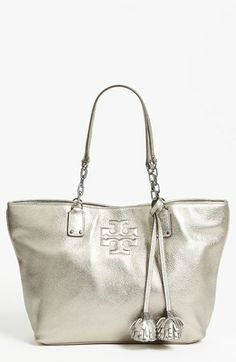 Tory Burch 'Thea Metallic - Small' Leather Tote available at #Nordstrom