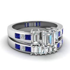 white-gold-emerald-white-diamond-engagement-wedding-ring-with-blue-sapphire-in-channel-prong-set-FDENS207EMGSABL-NL-WG
