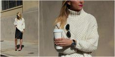 Atlantic-Pacific - fisherman sweater. I want that coffee.