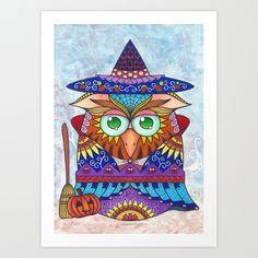 www.JennyLuan.com #owl #witch