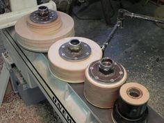 Back of vacuum chucks showing adapter