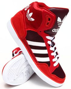 Adidas Women Extaball W Sneakers Red 9 Popular Sneakers, Best Sneakers, Sneakers Fashion, Fashion Outfits, Moda Sneakers, Sneakers Nike, Adidas Shoes Women, Nike Women, Boys Shoes