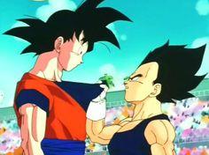 Dragon ball z - Goku and Vegeta Goku And Vegeta, Dbz, One Piece, What Is Love, Cartoon Drawings, Dragon Ball Z, Anime, Humor, Training