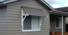 flat metal exterior with a vertical sliding window - Google Search