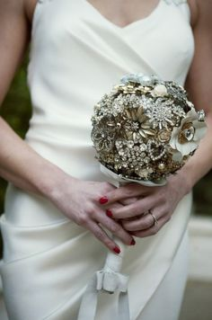A sparkly broach bouquet. @GloMSN URL: http://glo.msn.com/living/hottest-and-wackiest-wedding-trends-7337.gallery