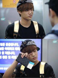 EXO KAI why r u so tired??