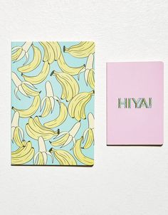Bershka Turkey - 'Bananas' notebook set