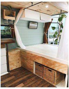 Tiny House, Bus House, Van Interior, Dream House Interior, Bus Life, Camper Life, Camper Van, Campers, House Ideas