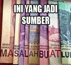 Ini Yang Jadi Sumber Masalah Lu :'v Quotes Lucu, Jokes Quotes, Me Quotes, K Pop, All Meme, Cartoon Jokes, Self Reminder, Good Night Quotes, Quotes Indonesia