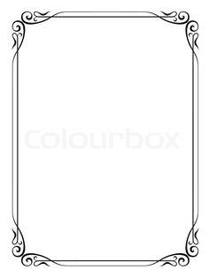 Stock vector of 'Simple ornamental decorative frame'