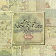 the Paper Studio x Our Family Tree Paper Pack Diy Projects Videos, Diy Craft Projects, Sewing Projects, Craft Ideas, Scrapbook Paper Crafts, Scrapbook Cards, Scrapbook Layouts, Got Family Tree, Heritage Scrapbooking
