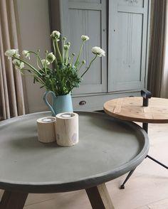 Ronde salontafel / bijzettafel , Scandinavisch interieur , interior