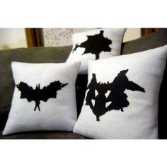Rorschach inkblot pillows - Ha! Future office... : )
