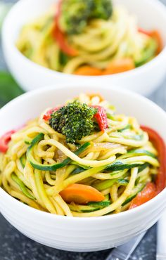 Thai Stir Fried Curry Zucchini Noodles | GI 365