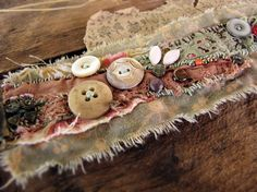 Wallflowers eco friendly textile wrist cuff by sparrowsalvage, $58.00
