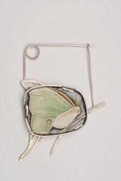 Dru Lindsey Patrick---Luna Moth Brooch (Ode to My Mother)