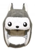 crazyheads Kids Infant and Toddler Grey Fox Trapper Hat with cute face - SALE $17.49