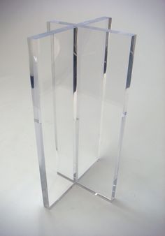 """2"""" THICK ACRYLIC BAR HEIGHT TABLE BASES CREATED BY AARON R THOMAS DESIGN FOR VU HOTEL, NYC - Modern Acrylic Furniture by Aaron R. Thomas"""