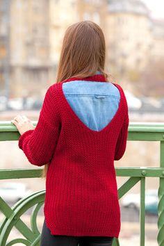 redwine knitted sweate fashion