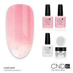 "U.S. Nail Pros- See the full how-to for this ""Ombre Play"" nail design by enrolling in the CNDU™ Summer Flirtation Trend Class."