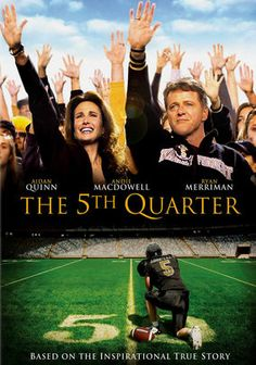 The 5th Quarter (2010) Good tear-jerker movie. Driven by the tragic and fatal car crash that took the life of his fifteen year old brother Luke, and wearing Luke's number 5 jersey, Jon Abbate helps to lead the Wake Forest Demon Deacons to the most successful season in school history.  Ryan Merriman, Andie MacDowell, Aidan Quinn...TS bio