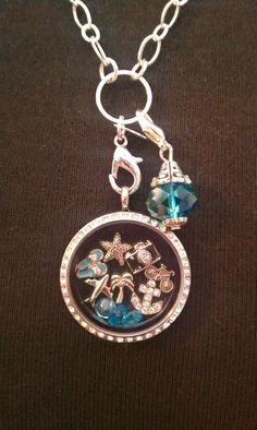 Summer vacation Origami Owl Living Locket  www.lisaemminger.origamiowl.com