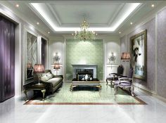 Lilac Living Room Interior Design – Home Design Ideas Home Design 2017, House Design, Lilac Living Rooms, Interior Design Living Room, Interior Decorating, Ceiling Design, Cool Photos, Furniture, Ceilings