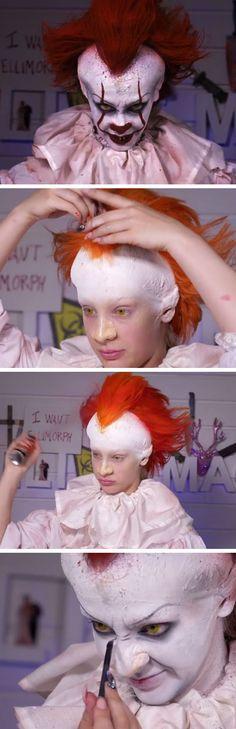 Pennywise Halloween Makeup Tutorial   DIY Halloween Costumes for Women   Easy Halloween Makeup Tutorials for Women