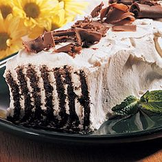 Icebox Cake Recipe..I hope it doesn´t melt.            Good luck                      Andy