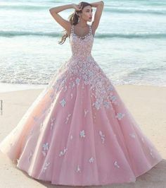 New Pink Flower Wedding dress Formal Prom Party dress Quinceanera Pageant dress | Clothing, Shoes & Accessories, Women's Clothing, Dresses | eBay!