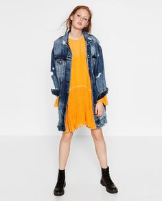 DRESS WITH BEADED DETAIL-DRESSES-WOMAN   ZARA United States
