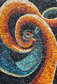 Mosaic Art -Rainbow Dish with Spiral Motif, Platter, Mosaic Bowl, Wall or Table Decoration, Medium Size Mosaic Artwork, Mosaic Wall Art, Tile Art, Mosaic Mirrors, Mosaic Pots, Mosaic Glass, Mosaic Tiles, Gaudi Mosaic, Mosaic Art Projects