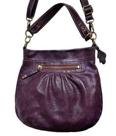 Vintage rare ROOTS Olivia Genuine buttery Purple Italian pebbled Leather bag   AuthenticROOTSCANADAluxurydesignerergopurse   ... 5a54da09c1ff3