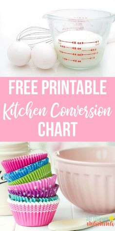 FREE Printable Kitchen Conversion Chart & Baking Tips - how many cups in a quart, pint or gallon and what is the difference between dry and liquid measuring cups and more! #kitchen #baking #bakingtips #conversions #allthingsmamma Brownie Desserts, Oreo Dessert, Mini Desserts, Single Serve Desserts, Trifle Desserts, Winter Desserts, Party Desserts, Dessert Recipes, Hot Fudge Cake