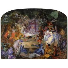 British Paintings: John Anster Fitzgerald - two pictures