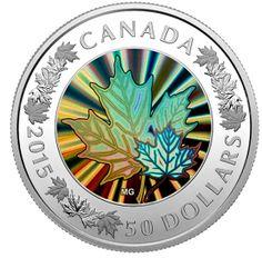 W najnowszej kolekcji Skarbnicy Narodowej znalazła się absolutna nowość na rynku numizmatycznym. Popularny symbol Kanady – liść klonowy – został przedstawiony po raz pierwszy na srebrnej monecie z efektem hologramu, dzięki czemu promienie słoneczne tworzą na jego powierzchni bogatą gamę kolorów.  Skarbnica Narodowa