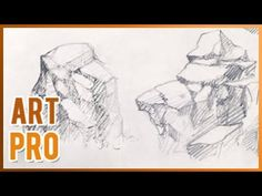 Art Pro - In this video you can learn how to draw rocks and stones, with a realistic appearance with pencil. Easy and fast video tutorial, good for beginners. Painting Templates, Rock Painting Patterns, Rock Painting Ideas Easy, Painting For Kids, Rock Steps, Painted Rocks Kids, Turtle Painting, Realistic Drawings, Painting Videos