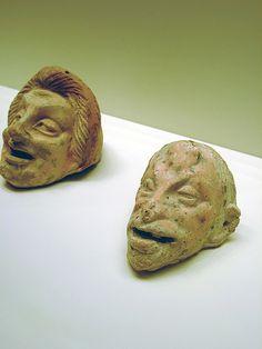 Head of an Old Man (R) Greek from the eastern Mediterranean 300-200 BCE Terracotta