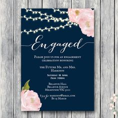 wd65-5x7-engagement-invitation-rustic-peonies-navy-floral                                                                                                                                                                                 More
